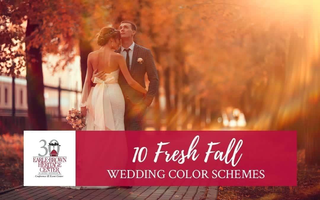 10 Fresh Fall Wedding Color Schemes