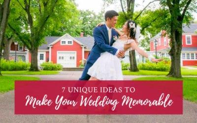 7 Unique Ideas to Make Your Wedding Memorable